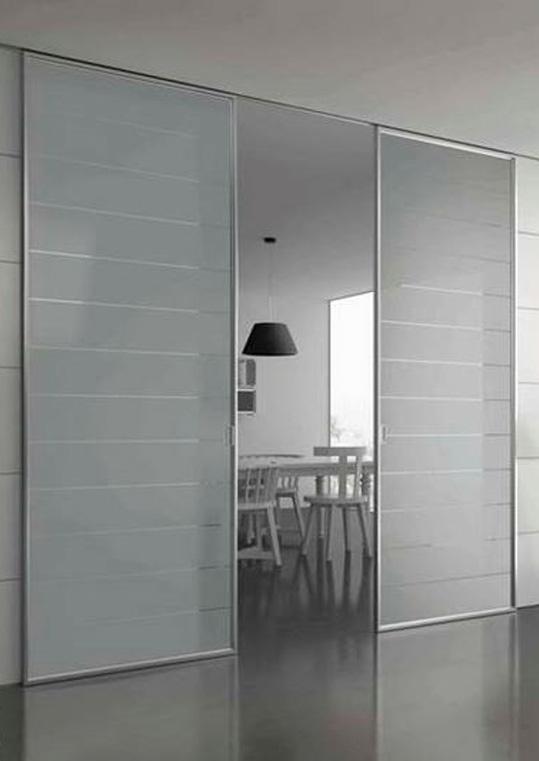Controtelaio porte scorrevoli mito easy in vetro per - Porte scorrevoli doppia anta ...